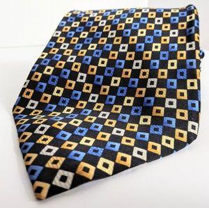 3/$18 PIERRE CARDIN blue & gold tie 100% silk